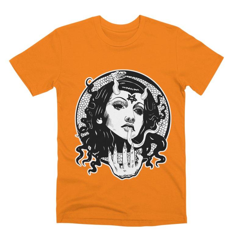 OMEN TEE Men's Premium T-Shirt by Hate Baby Comix Artist Shop