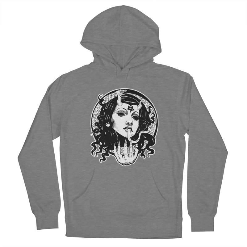 OMEN TEE Women's Pullover Hoody by Hate Baby Comix Artist Shop