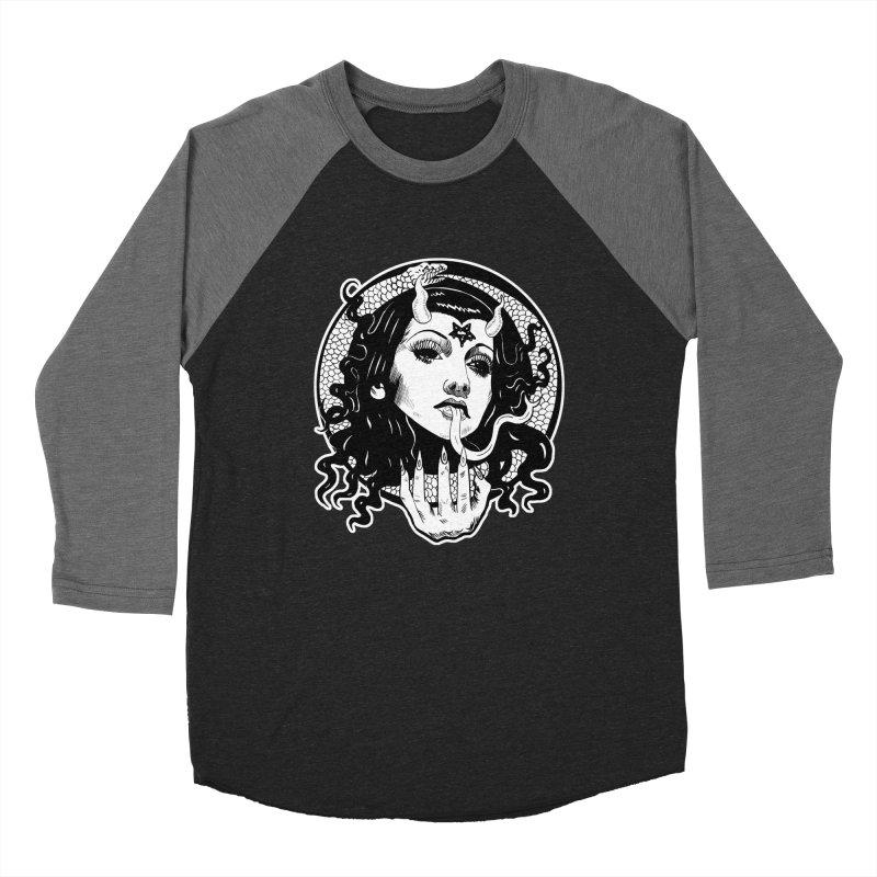 OMEN TEE Men's Baseball Triblend Longsleeve T-Shirt by Hate Baby Comix Artist Shop