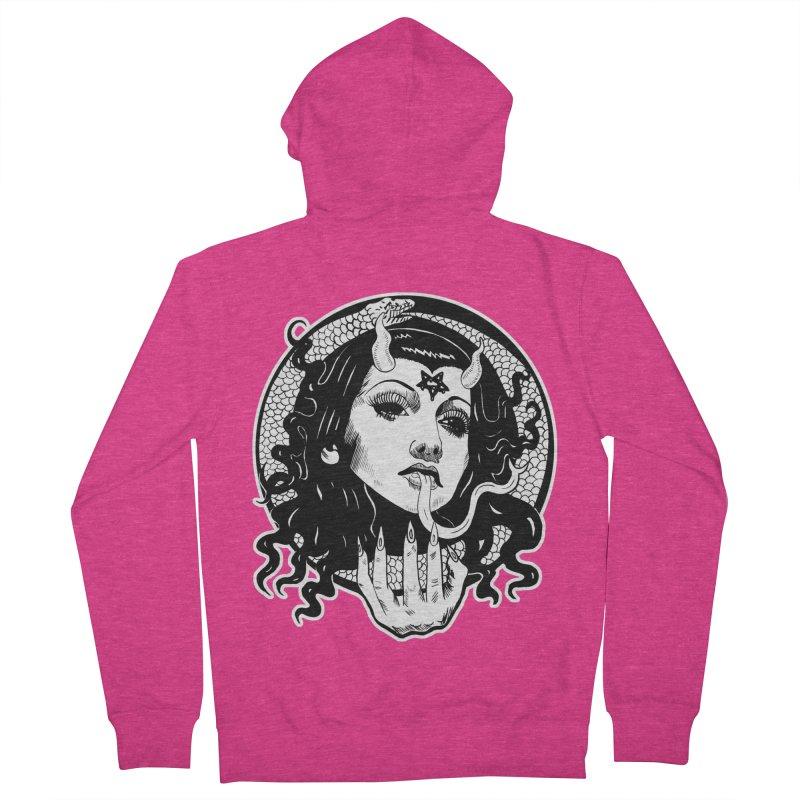OMEN TEE Women's Zip-Up Hoody by Hate Baby Comix Artist Shop