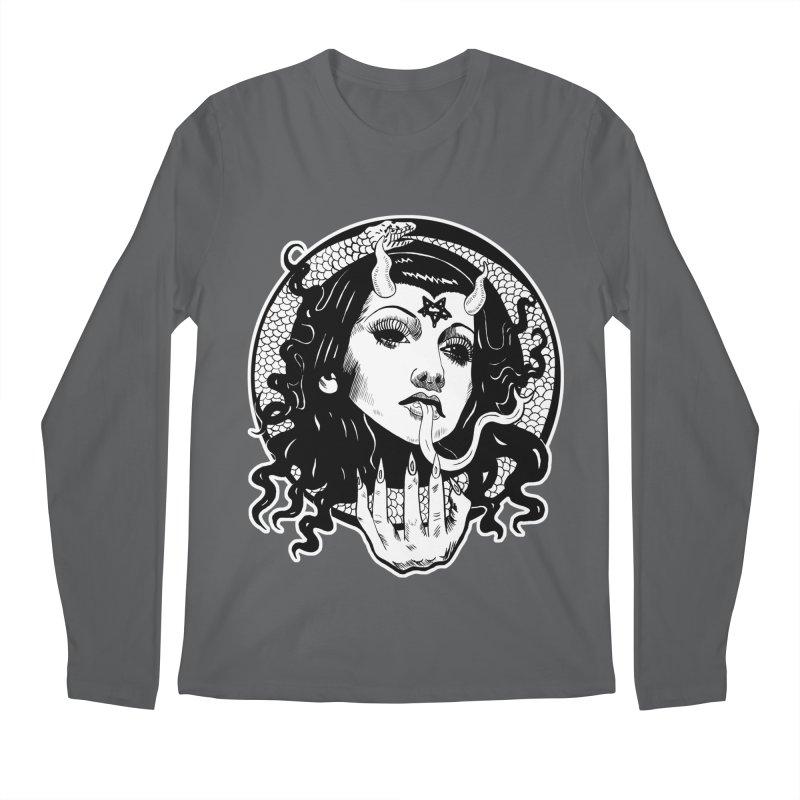 OMEN TEE Men's Longsleeve T-Shirt by Hate Baby Comix Artist Shop