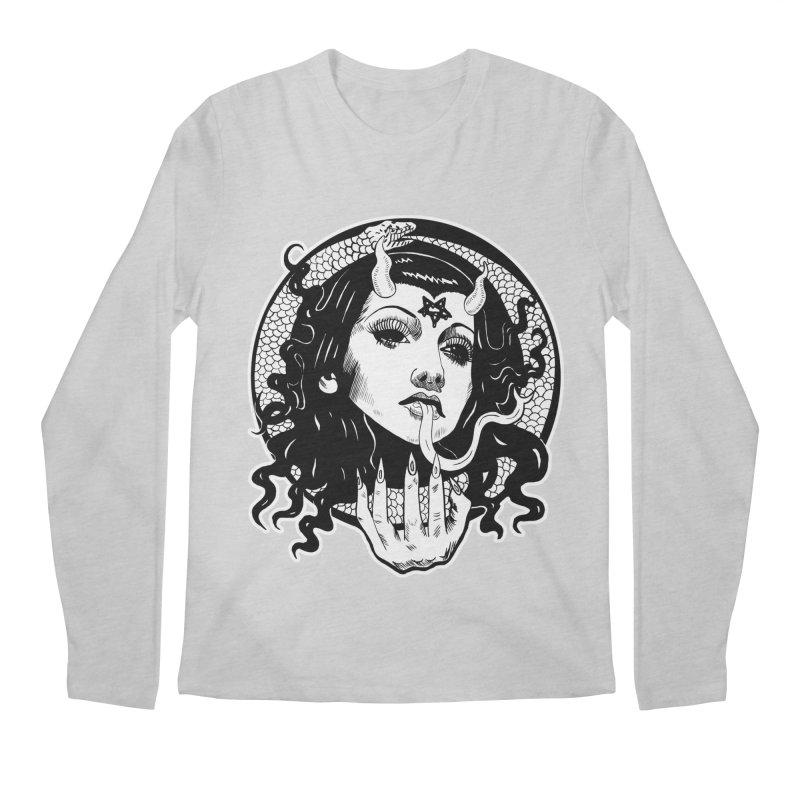OMEN TEE Men's Regular Longsleeve T-Shirt by Hate Baby Comix Artist Shop