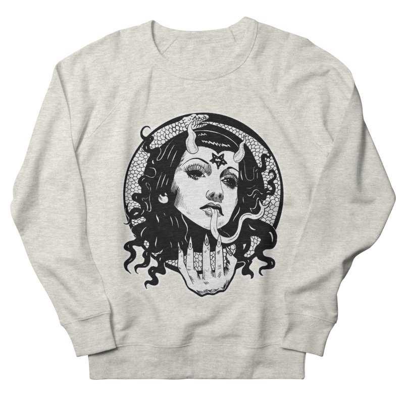 OMEN TEE Women's French Terry Sweatshirt by Hate Baby Comix Artist Shop