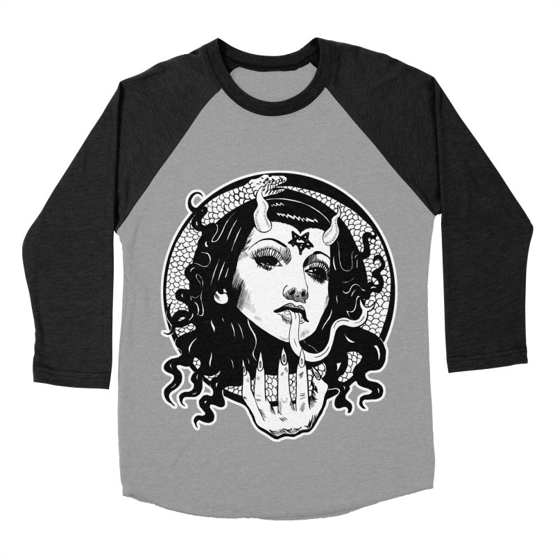 OMEN TEE Men's Baseball Triblend Longsleeve T-Shirt by Hate Baby Comix Artist Shop