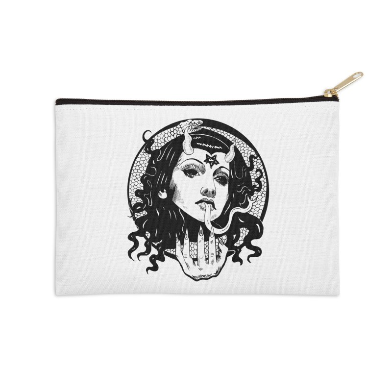 OMEN TEE Accessories Zip Pouch by Hate Baby Comix Artist Shop