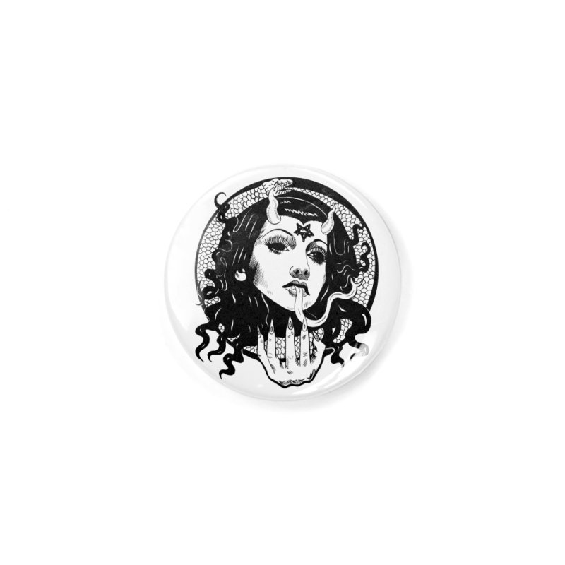 OMEN TEE Accessories Button by Hate Baby Comix Artist Shop