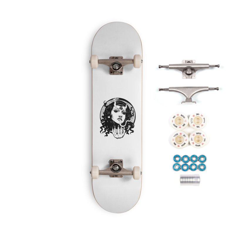 OMEN TEE Accessories Complete - Premium Skateboard by Hate Baby Comix Artist Shop