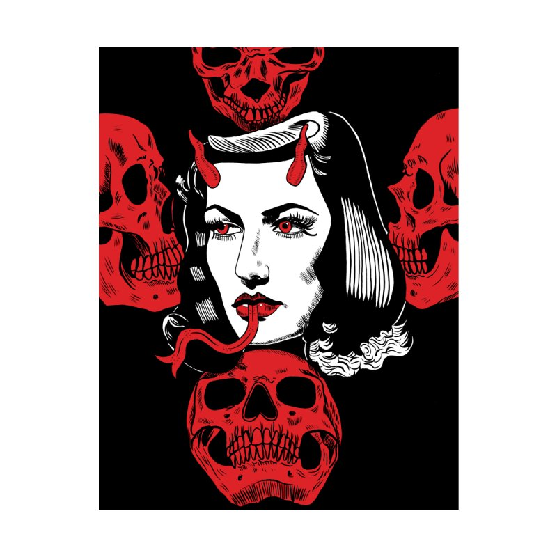 SNAKE LADY AND SKULLS PRINT by Hate Baby Comix Artist Shop