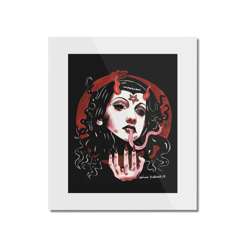 OMEN PRINT Home Mounted Acrylic Print by Hate Baby Comix Artist Shop