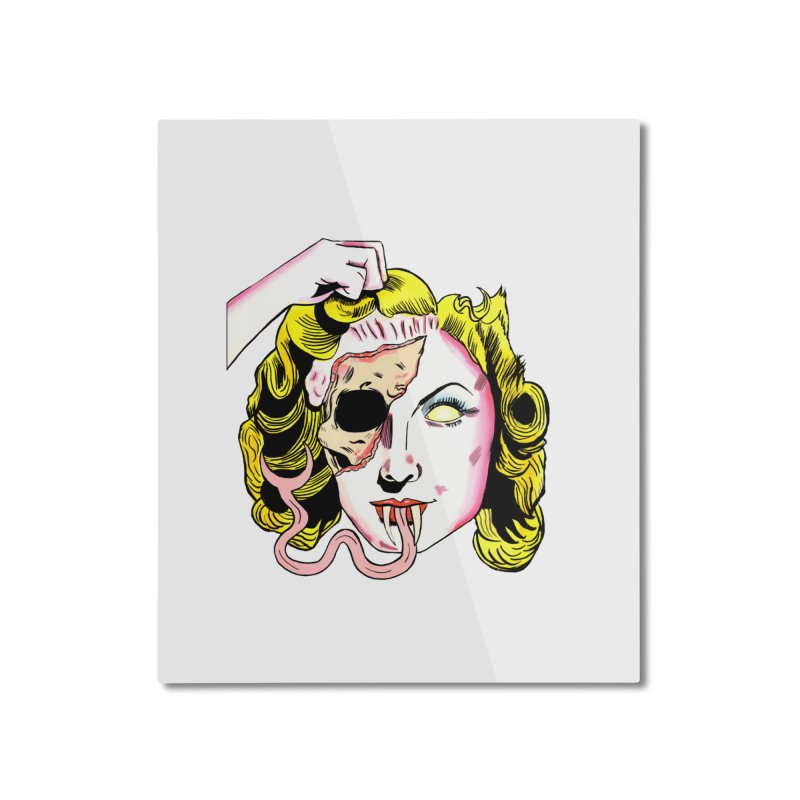 FACE RIP Home Mounted Aluminum Print by Hate Baby Comix Artist Shop
