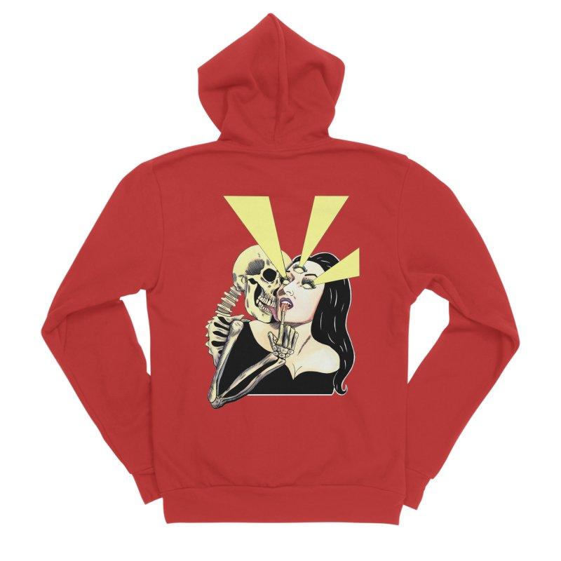 UNHOLY GHOSTS Men's Zip-Up Hoody by Hate Baby Comix Artist Shop