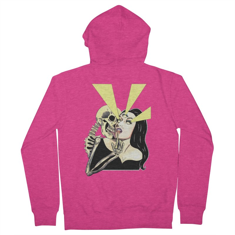 UNHOLY GHOSTS Women's Zip-Up Hoody by Hate Baby Comix Artist Shop