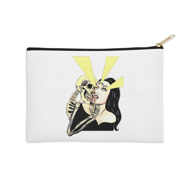 UNHOLY GHOSTS Accessories Zip Pouch by Hate Baby Comix Artist Shop