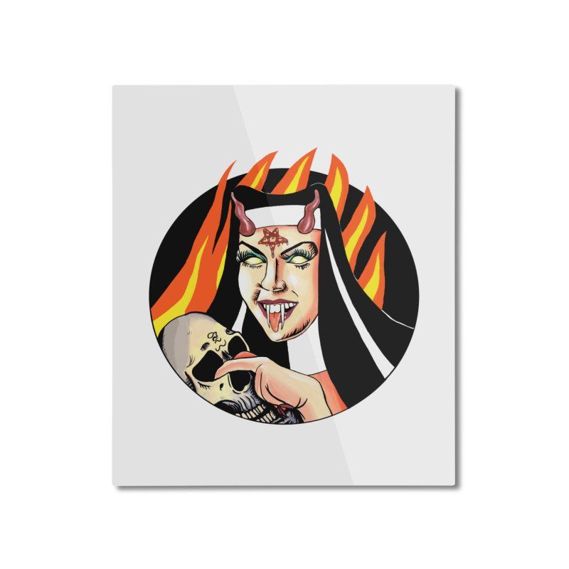 DRAG ME TO HELL Home Mounted Aluminum Print by Hate Baby Comix Artist Shop