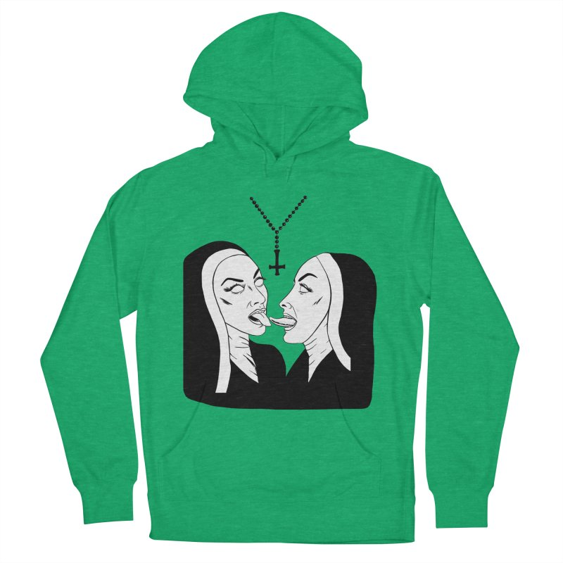 Tonguing Nuns Men's French Terry Pullover Hoody by Hate Baby Comix Artist Shop