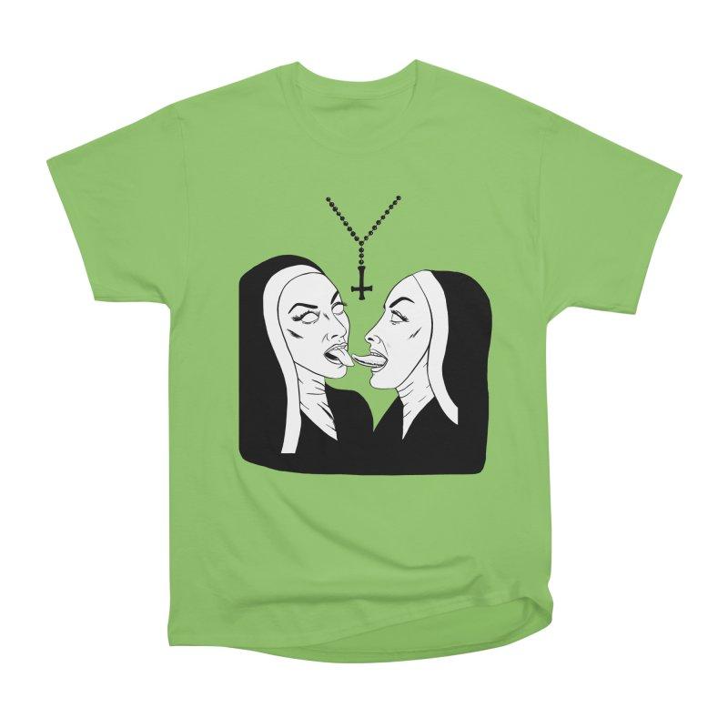Tonguing Nuns Women's Heavyweight Unisex T-Shirt by Hate Baby Comix Artist Shop
