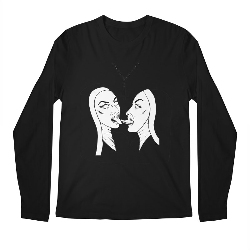 Tonguing Nuns Men's Regular Longsleeve T-Shirt by Hate Baby Comix Artist Shop