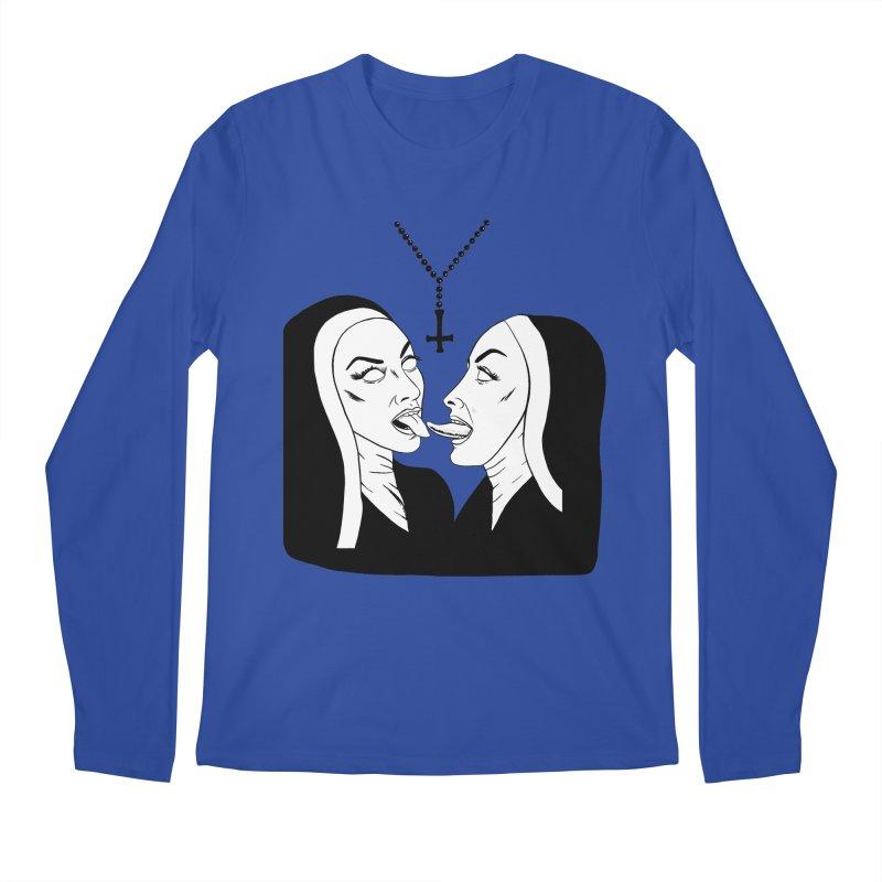 Tonguing Nuns Men's Regular Longsleeve T-Shirt by Hate Baby Comix Artist Shop