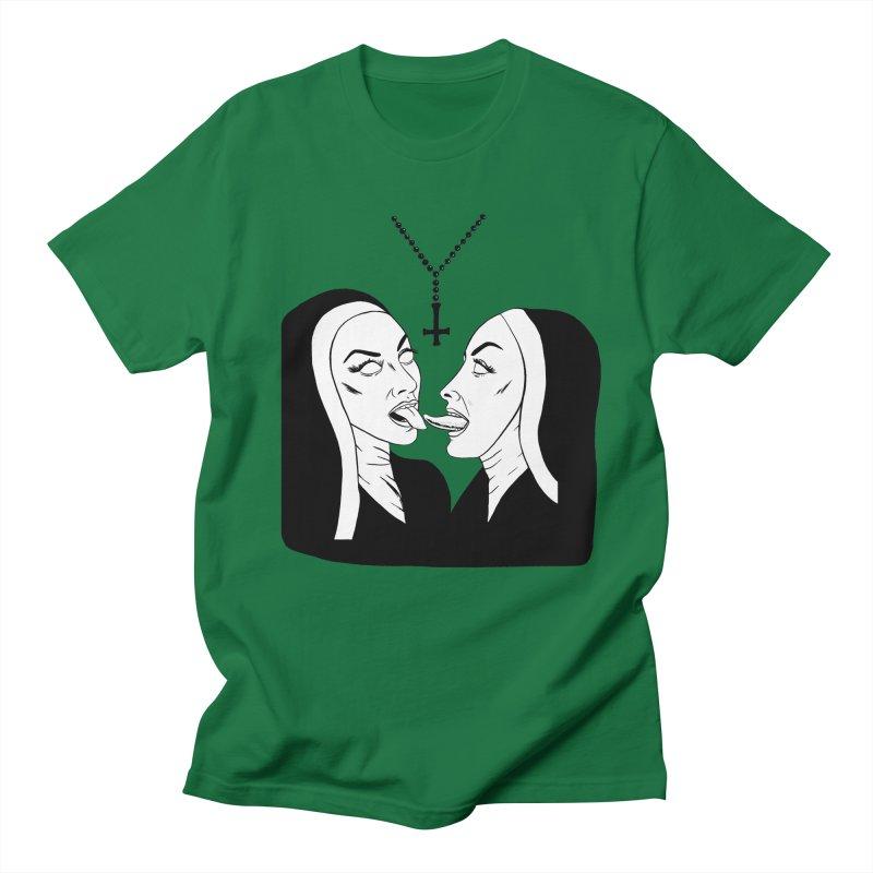 Tonguing Nuns Men's Regular T-Shirt by Hate Baby Artist Shop