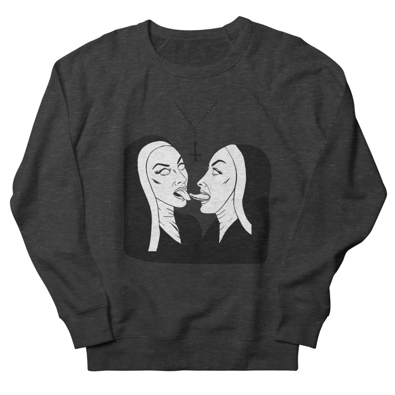 Tonguing Nuns Women's French Terry Sweatshirt by Hate Baby Artist Shop