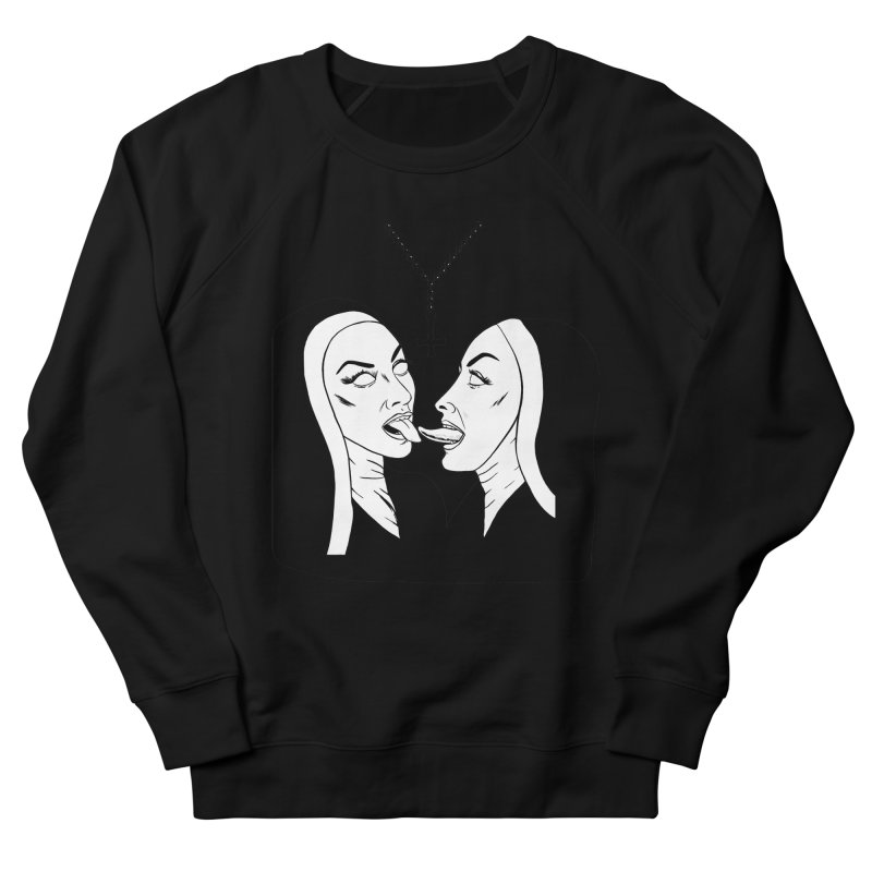 Tonguing Nuns Women's French Terry Sweatshirt by Hate Baby Comix Artist Shop