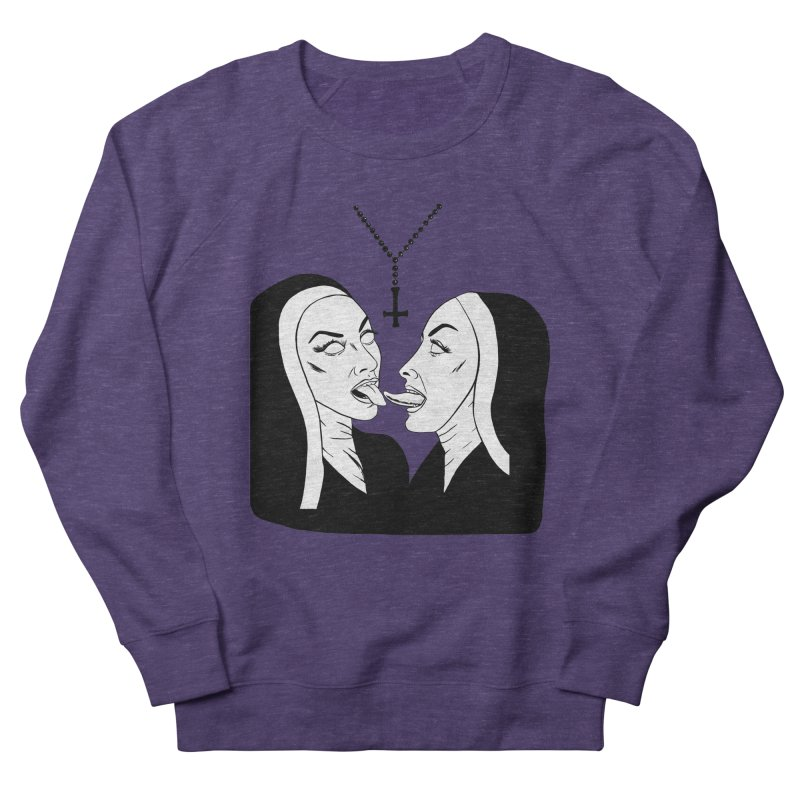 Tonguing Nuns Men's French Terry Sweatshirt by Hate Baby Comix Artist Shop
