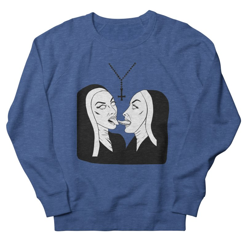 Tonguing Nuns Men's French Terry Sweatshirt by Hate Baby Artist Shop