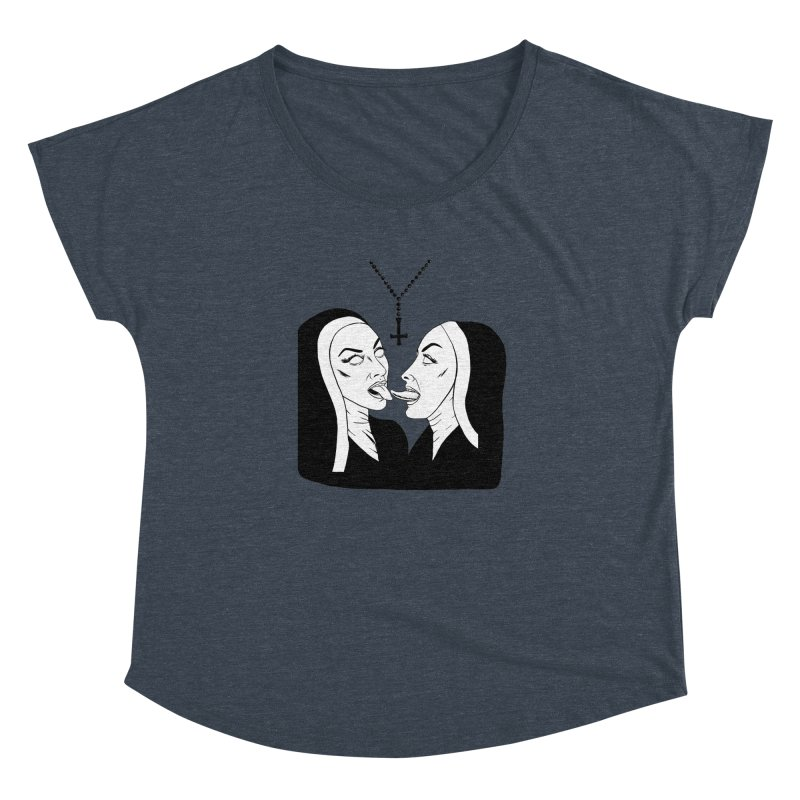 Tonguing Nuns Women's Dolman Scoop Neck by Hate Baby Artist Shop