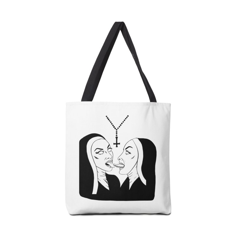 Tonguing Nuns Accessories Tote Bag Bag by Hate Baby Comix Artist Shop