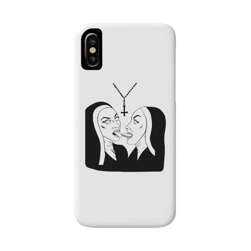Tonguing Nuns Accessories Phone Case by Hate Baby Artist Shop