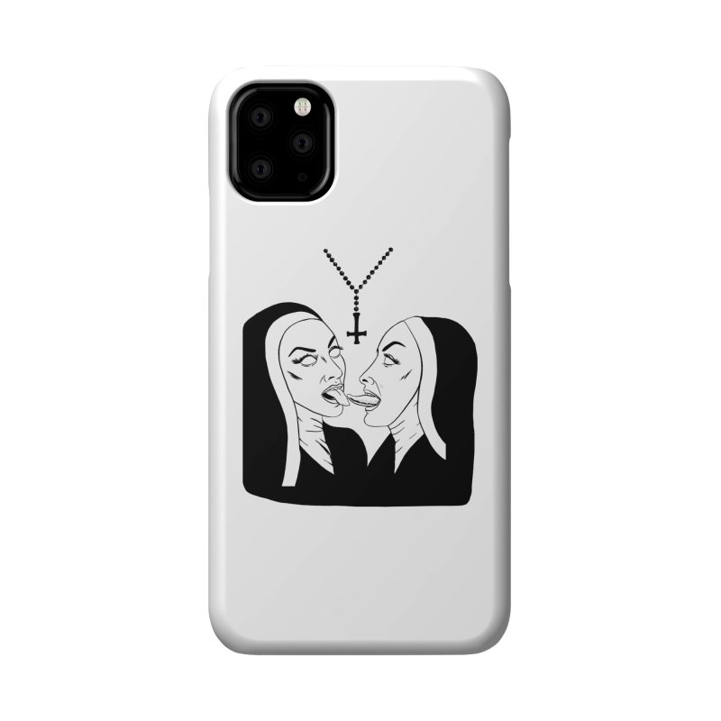 TONGUING NUNS Accessories Phone Case by Hate Baby Comix Artist Shop