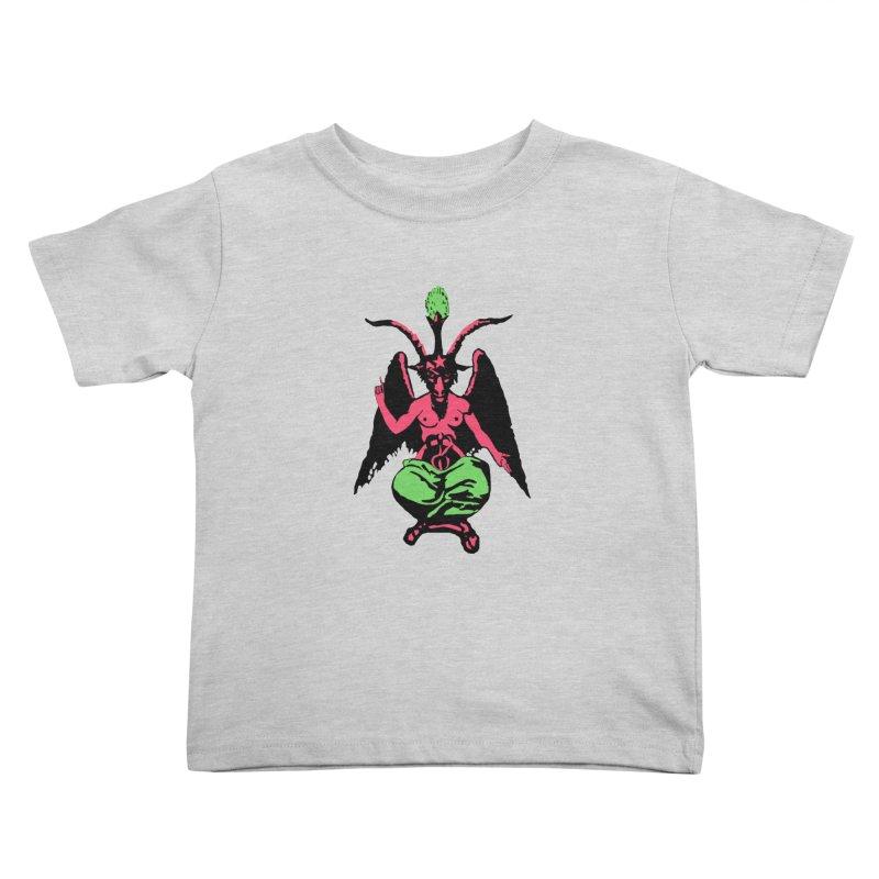 Blacklight Baphomet  Kids Toddler T-Shirt by Hate Baby Comix Artist Shop