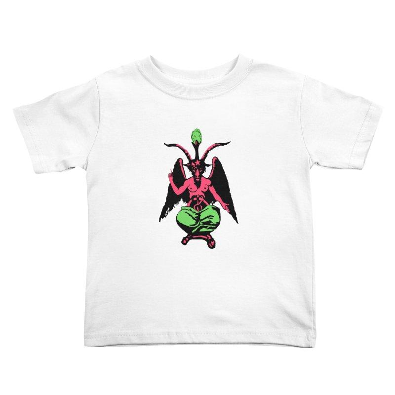 Blacklight Baphomet  Kids Toddler T-Shirt by Hate Baby Artist Shop