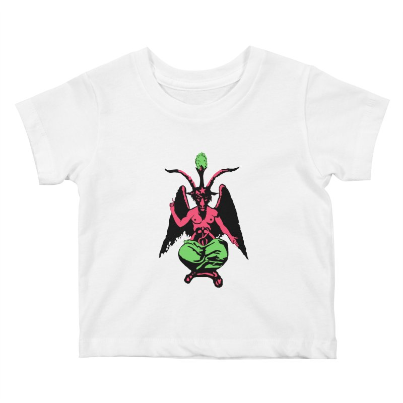 Blacklight Baphomet  Kids Baby T-Shirt by Hate Baby Comix Artist Shop