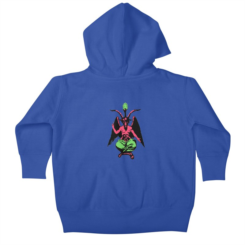 Blacklight Baphomet  Kids Baby Zip-Up Hoody by Hate Baby Artist Shop
