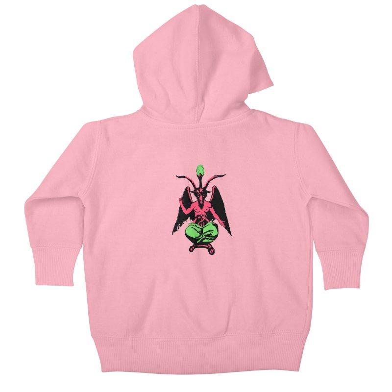 BLACKLIGHT BAPHOMET Kids Baby Zip-Up Hoody by Hate Baby Comix Artist Shop