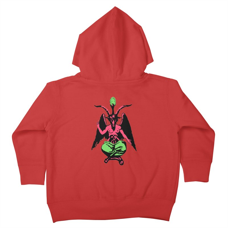 Blacklight Baphomet  Kids Toddler Zip-Up Hoody by Hate Baby Comix Artist Shop