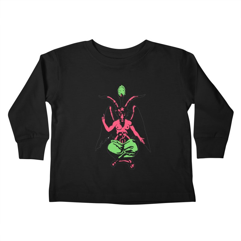 BLACKLIGHT BAPHOMET Kids Toddler Longsleeve T-Shirt by Hate Baby Comix Artist Shop