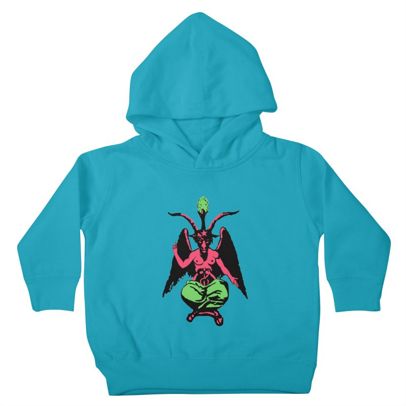 BLACKLIGHT BAPHOMET Kids Toddler Pullover Hoody by Hate Baby Comix Artist Shop