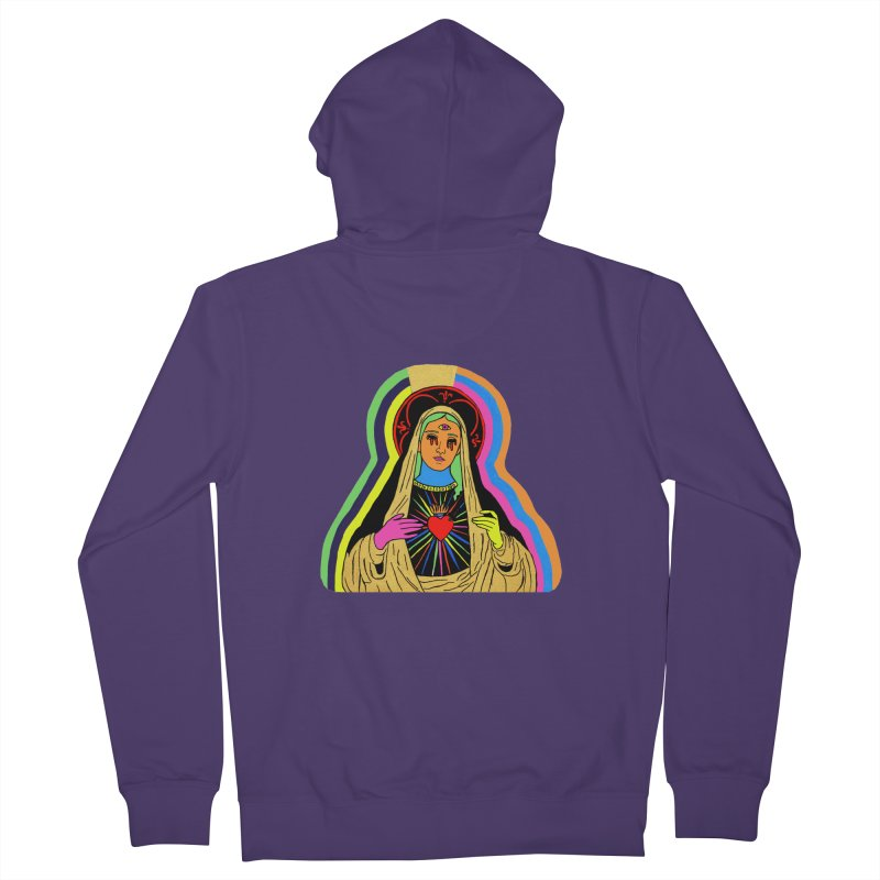 Hail Mary Women's French Terry Zip-Up Hoody by Hate Baby Artist Shop