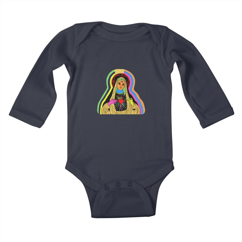 HAIL MARY Kids Baby Longsleeve Bodysuit by Hate Baby Comix Artist Shop