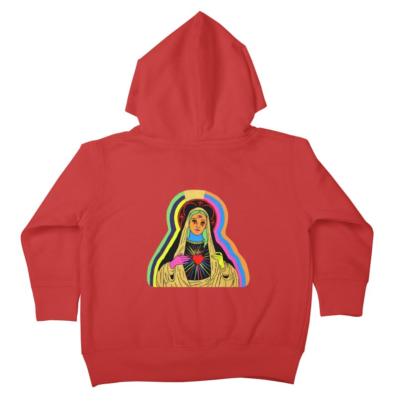 HAIL MARY Kids Toddler Zip-Up Hoody by Hate Baby Comix Artist Shop