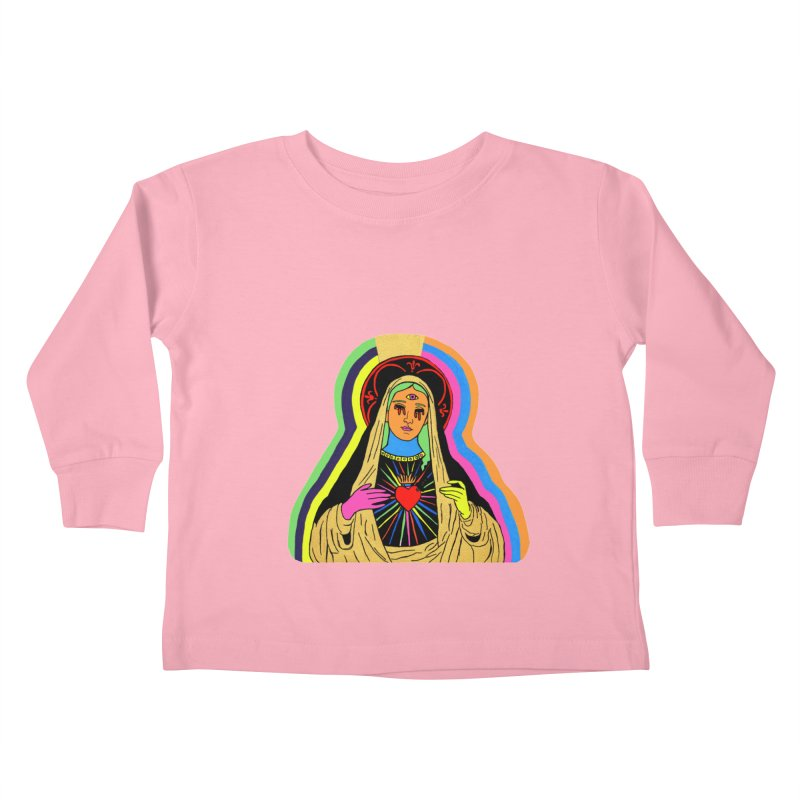 Hail Mary Kids Toddler Longsleeve T-Shirt by Hate Baby Artist Shop