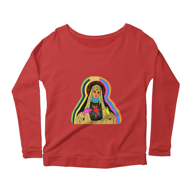 HAIL MARY Women's Scoop Neck Longsleeve T-Shirt by Hate Baby Comix Artist Shop