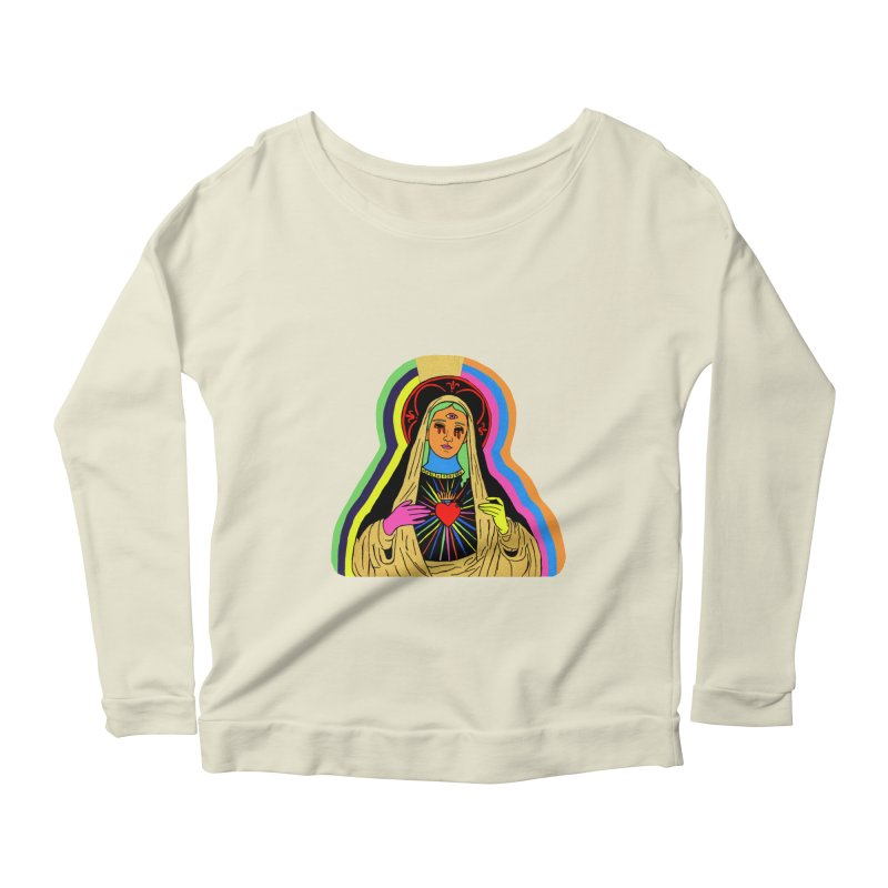 Hail Mary Women's Scoop Neck Longsleeve T-Shirt by Hate Baby Artist Shop