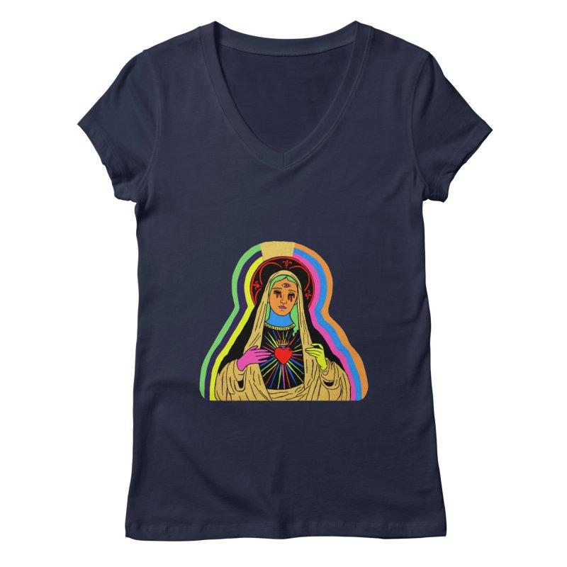 Hail Mary Women's Regular V-Neck by Hate Baby Artist Shop
