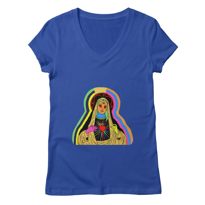 HAIL MARY Women's Regular V-Neck by Hate Baby Comix Artist Shop