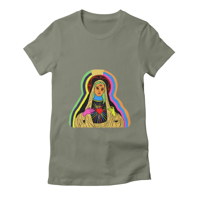 Hail Mary Women's Fitted T-Shirt by Hate Baby Artist Shop