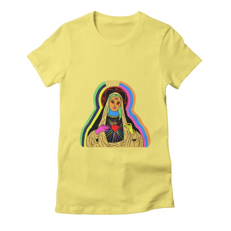 HAIL MARY Women's Fitted T-Shirt by Hate Baby Comix Artist Shop