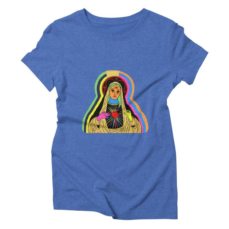 HAIL MARY Women's Triblend T-Shirt by Hate Baby Comix Artist Shop